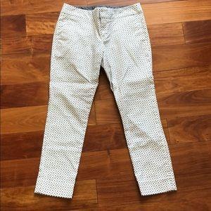 Banana republic polka dot and diamond design pants